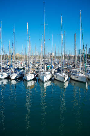 berth: Yachts & boats in a harbour.