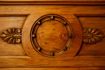 wood furniture: Old wooden decoration.