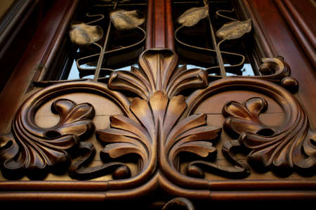 Old wooden decoration. photo