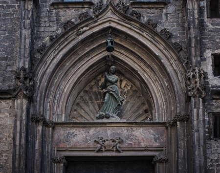 tourist feature: Old building architecture details. Stock Photo