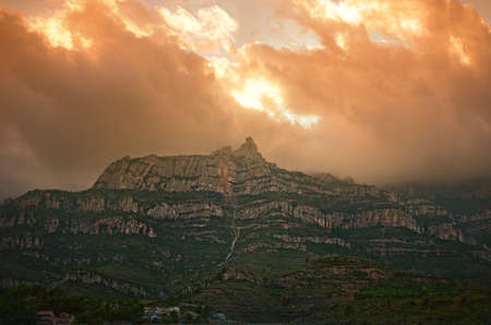 Montserrat mountain in Spain photo