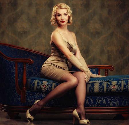 Beautiful woman retro style Stock Photo - 11395680