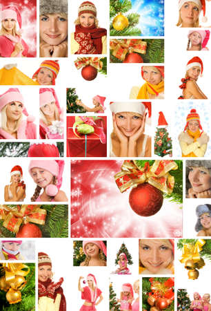 new year tree: Christmas collage