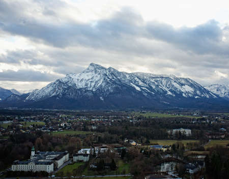Alps view from Salzburg city. photo