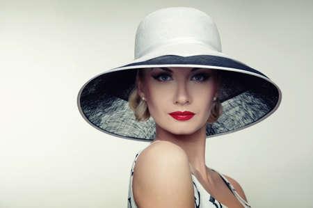 Woman in hat retro portrait. Stock Photo - 12148679