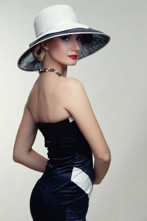 Beautiful woman in hat. photo