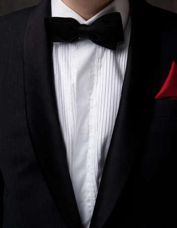 Man wearing tuxedo. photo