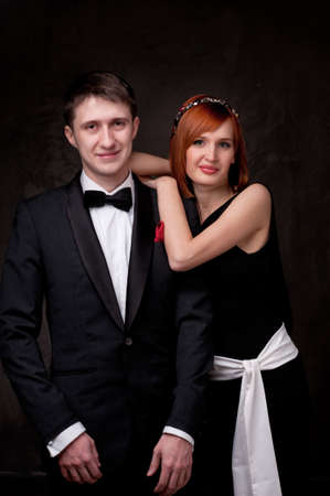 jointly: Beautiful young couple. Stock Photo