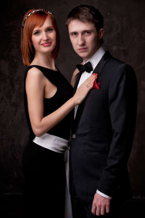 Beautiful young couple. photo