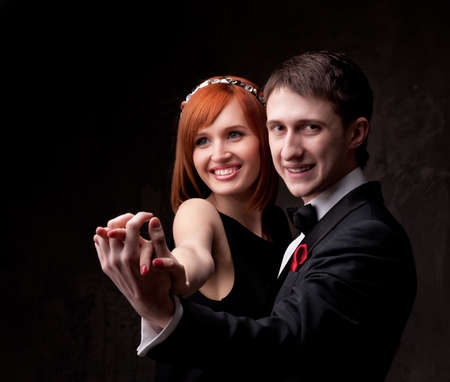 jointly: Beautiful smiling couple.