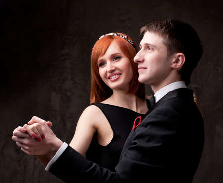 young lovers: Beautiful smiling couple.