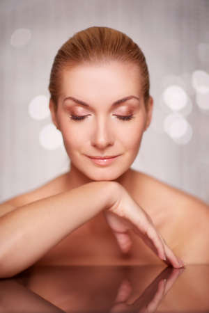 soft skin: Beautiful woman portrait. Stock Photo