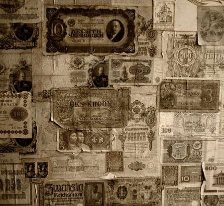 numismatic: Vintage banknotes wallpaper.