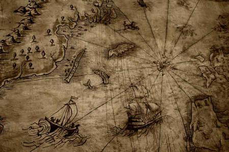 old age: Vintage map.