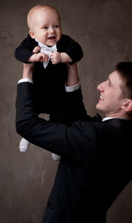 Happy father with his son. photo