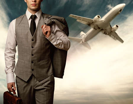 Businessman traveling concept. Stock Photo - 12377028