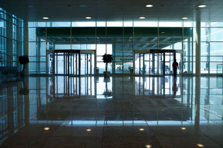 Modern office building hallway. photo