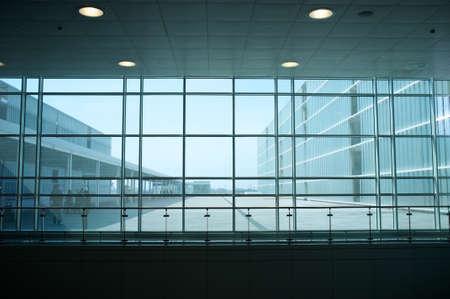 Inside of modern building. photo