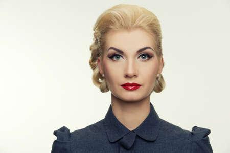 Retro woman portrait. Stock Photo - 12609139