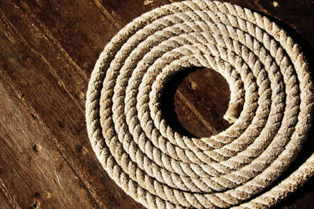 Rope on boat photo