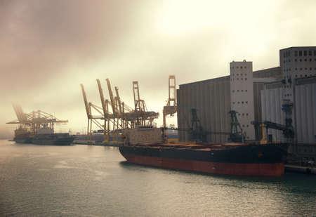Cargo ship at port  photo