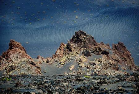 timanfaya: Parque Nacional de Timanfaya, Lanzarote, Islas Canarias.