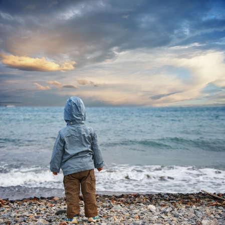 Child on a beach. photo