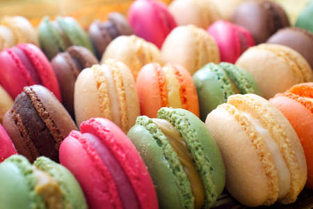 Colorful macaroons background. photo
