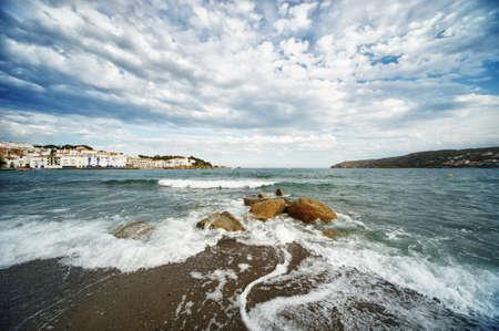 Cadaqués city beach Stock Photo - 13513718