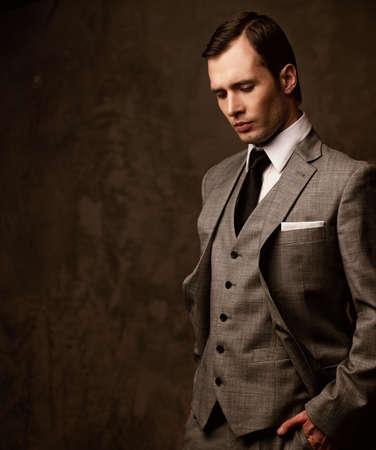 Man in grey suit. photo