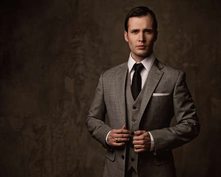 Man in grey suit. photo