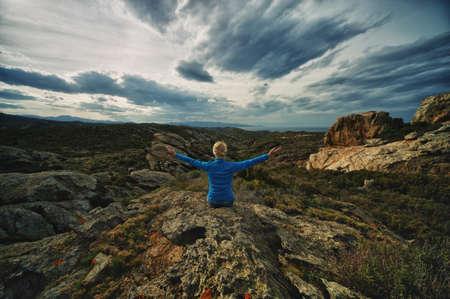 Woman on a Cap de Creus. Stock Photo - 13680002
