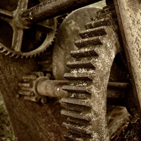 flywheel: Close-up of a rusty mechanism Stock Photo