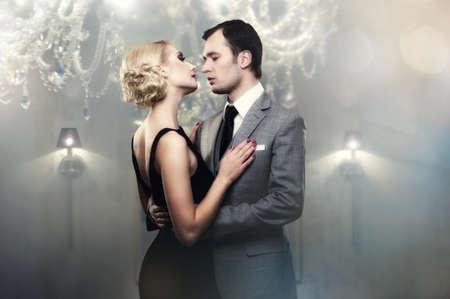 Retro couple in luxury inter Stock Photo - 13809589