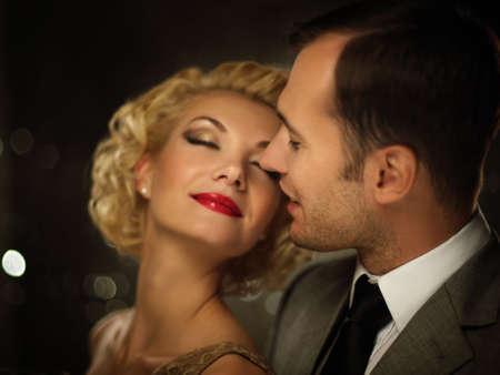 Happy couple closeup photo