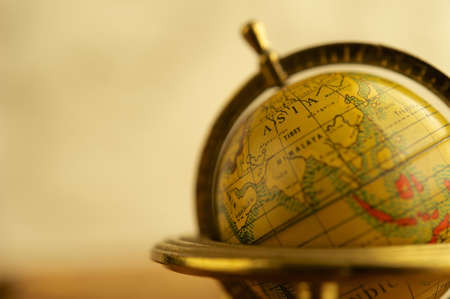 Close-up of a vintage globe photo