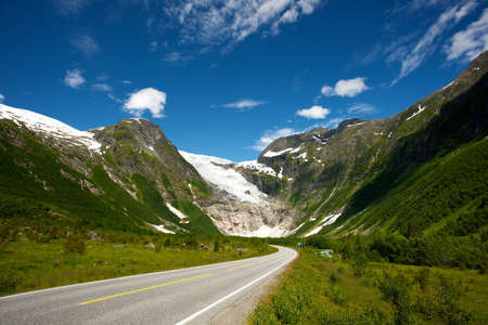 roadway: Road in norwegian mountains Stock Photo