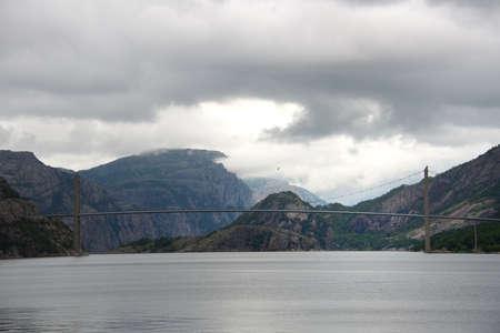 Long bridge over fjord, Norway Stock Photo - 15197691