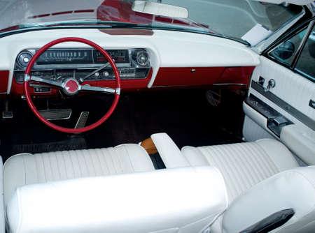 Retro car classic interior photo