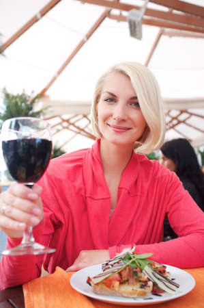 Woman in a restaurant photo