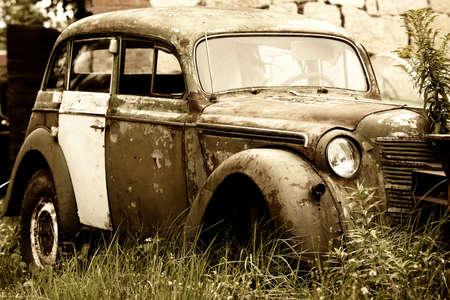 Abandoned old car photo