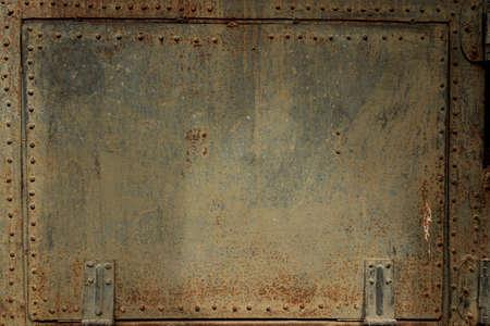 Oude metalen deksel Stockfoto