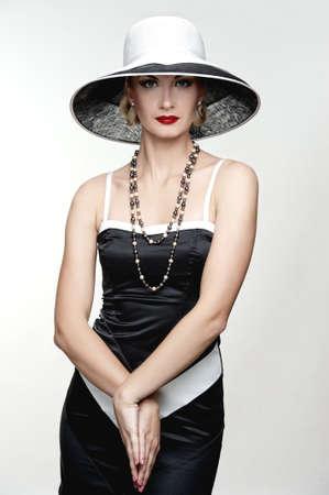 Retro woman in hat Stock Photo - 15473246