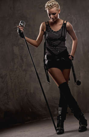 Attractive steam punk singer photo