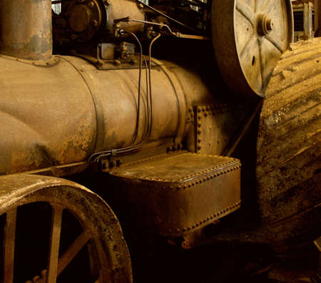 Antique steam train photo