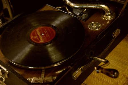 phonograph: Vintage gramophone Stock Photo