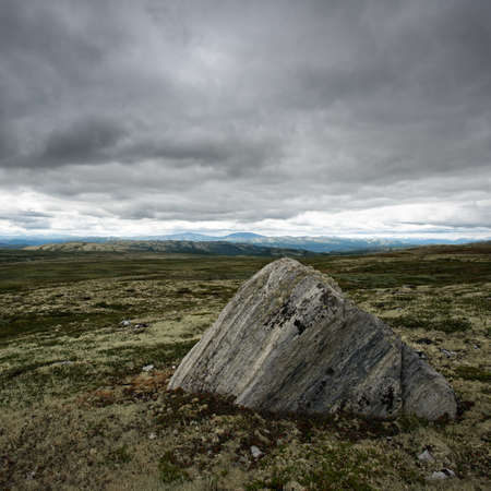 Big stone in a valley Stock Photo