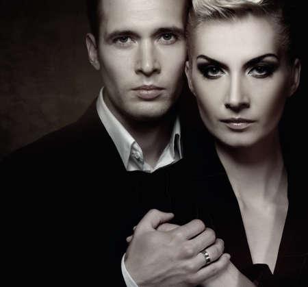 elegant couple: Fashionable couple