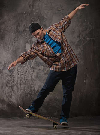 Skater doing a trick photo
