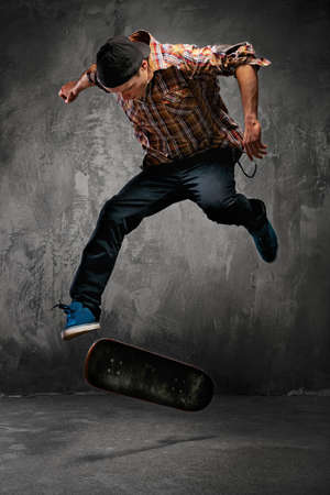 cool dude: Skater doing a trick